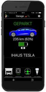 Alle Tesla-Elektroautos sind über die App steuerbar. (Bild: iHaus)